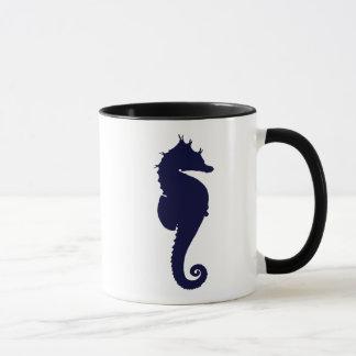 濃紺のタツノオトシゴ マグカップ