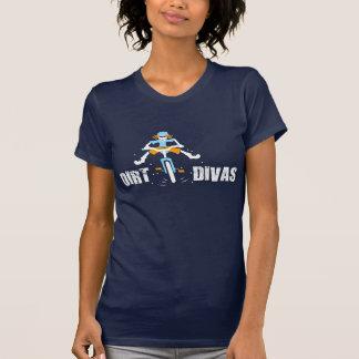 濃紺のティーの土の花型女性歌手 Tシャツ