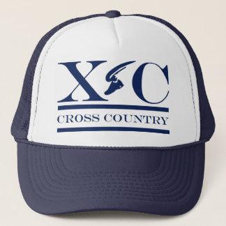 濃紺のデザインの帽子を走るクロス・カントリー キャップ