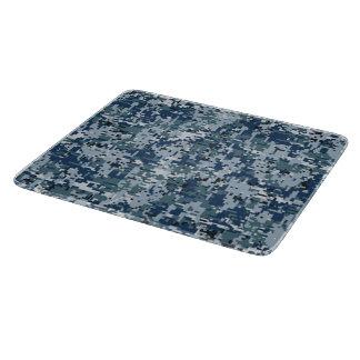 濃紺のデジタルカムフラージュの装飾 カッティングボード