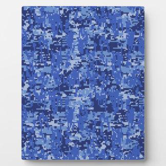 濃紺のデジタルピクセルカムフラージュの質の装飾 フォトプラーク