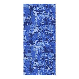 濃紺のデジタル迷彩柄のカムフラージュの質 ラックカード
