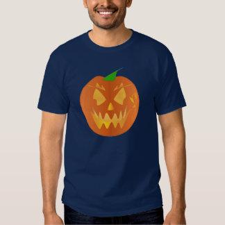 濃紺のハロウィンのカボチャ T-シャツ