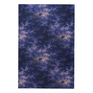 濃紺のフラクタル ウッドウォールアート