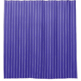 濃紺のヘリンボンシャワー・カーテン シャワーカーテン