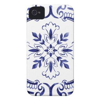濃紺のポルトガルのタイル Case-Mate iPhone 4 ケース