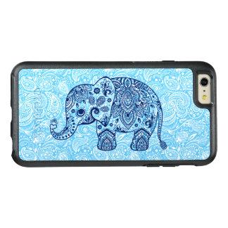 濃紺のヴィンテージのペイズリー象の絵 オッターボックスiPhone 6/6S PLUSケース