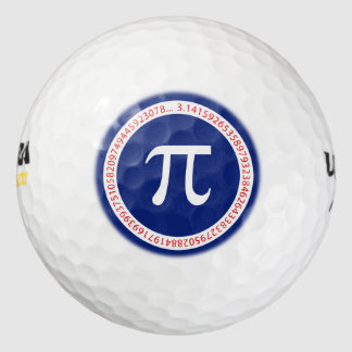 濃紺の円のPiの記号 ゴルフボール