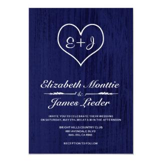 濃紺の国の結婚式招待状 カード