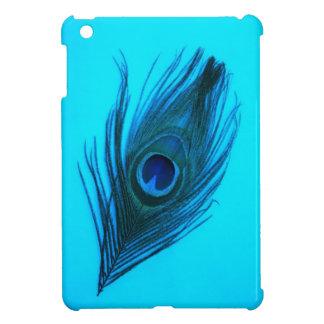濃紺の孔雀の羽のiPad Miniケース iPad Mini カバー