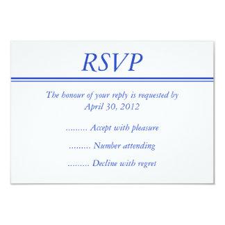 濃紺の応答、RSVPまたはイベントの応答カード 8.9 X 12.7 インビテーションカード