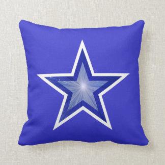 濃紺の星の装飾用クッションの正方形の青 クッション