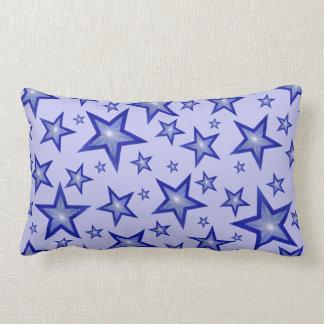 濃紺の星の装飾用クッションの腰神経の淡いブルーの背部 ランバークッション