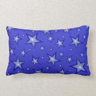 濃紺の星の「文字」の腰神経の青 ランバークッション