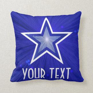 濃紺の星「あなたの文字」の装飾用クッションの正方形 クッション