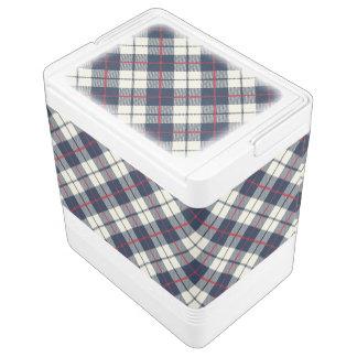 濃紺の格子縞パターン クールボックス