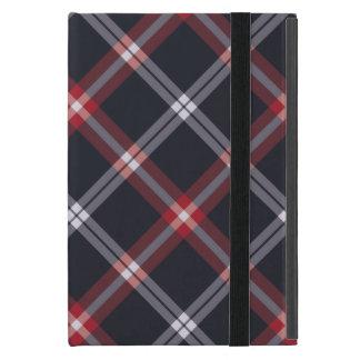 濃紺の格子縞 iPad MINI ケース