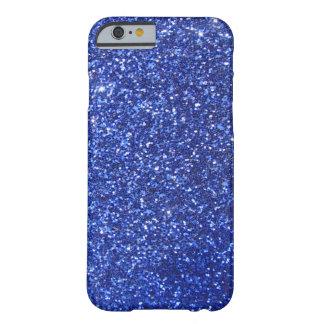 濃紺の模造のなグリッターのグラフィック BARELY THERE iPhone 6 ケース