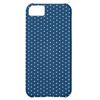 濃紺の水玉模様のiPhone iPhone5Cケース