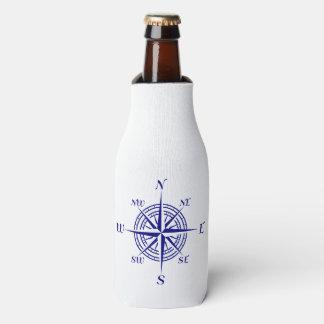 濃紺の沿岸装飾のコンパス面図 ボトルクーラー