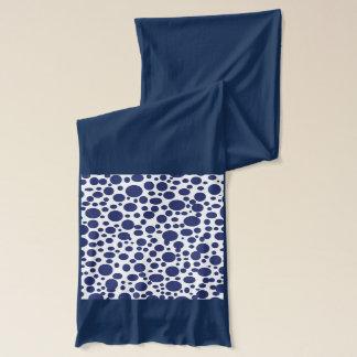 濃紺の泡2スカーフ スカーフ