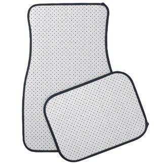 濃紺の点と白いカーマット カーマット
