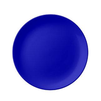 濃紺の無地 磁器プレート