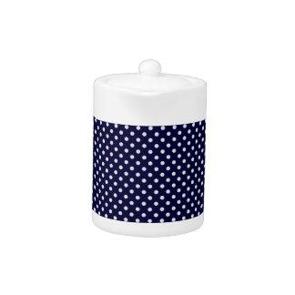 濃紺の白い水玉模様パターン