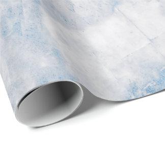 濃紺の白い銀製灰色のカラーラの大理石の石 ラッピングペーパー