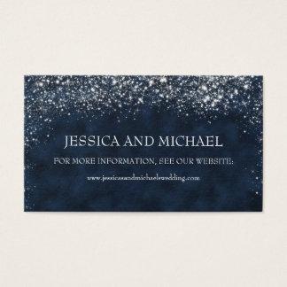 濃紺の白いStardustの結婚式のウェブサイト 名刺