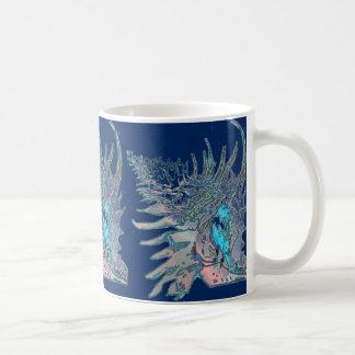 濃紺の石のかたつむりの貝 コーヒーマグカップ