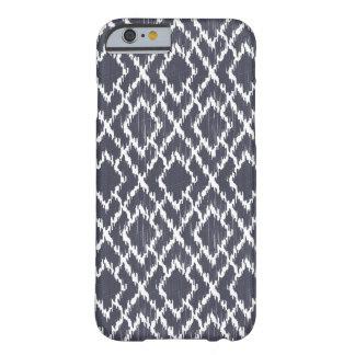 濃紺の種族のプリントのIkat Geoのダイヤモンドパターン iPhone 6 ベアリーゼアケース
