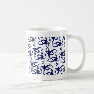濃紺の種族のレース コーヒーマグカップ