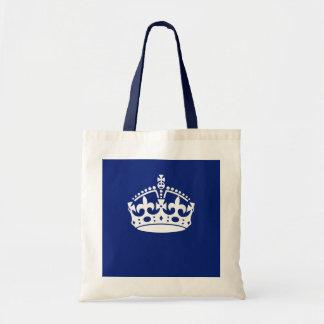 濃紺の穏やかな王冠アイコンを保って下さい トートバッグ