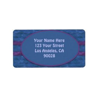 濃紺の紫色の質 宛名ラベル