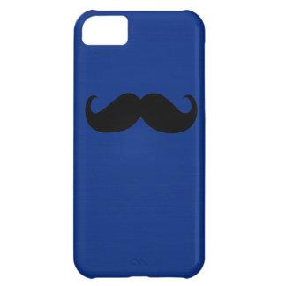 濃紺の背景のおもしろいで黒い髭 iPhone5Cケース