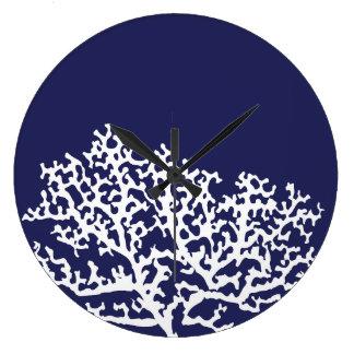 濃紺の航海のな珊瑚 ラージ壁時計