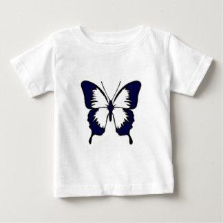 濃紺の蝶 ベビーTシャツ