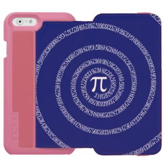 濃紺の装飾のPi数のための螺線形 Incipio Watson™ iPhone 6 財布ケース