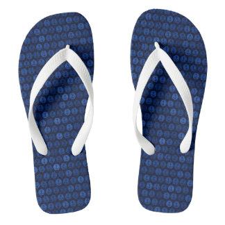 濃紺の調子はパターンを固定します ビーチサンダル