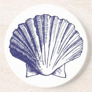 濃紺の貝殻のコースター コースター