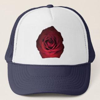 濃紺の赤いバラ キャップ