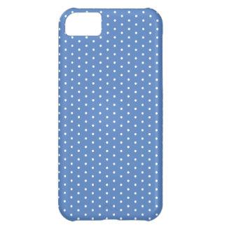 濃紺の鐘の水玉模様のiPhone iPhone5Cケース