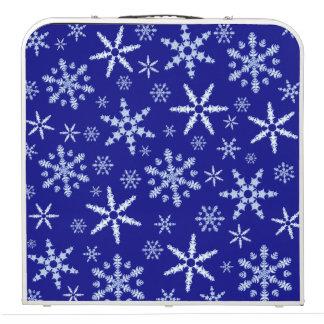 濃紺の雪片のブリザード ビアポンテーブル