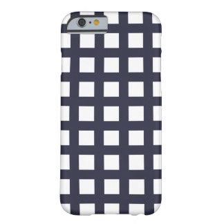 濃紺のiPhone 6つのケース-格子点検 Barely There iPhone 6 ケース