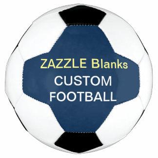 濃紺カスタムなプリントのフットボールのブランクのテンプレート サッカーボール