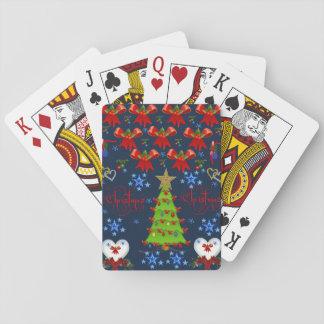 濃紺カードデッキを遊ぶクリスマス トランプ