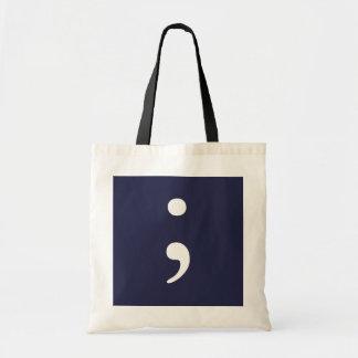 濃紺セミコロン- トートバッグ