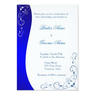 濃紺パターン結婚式招待状 カード