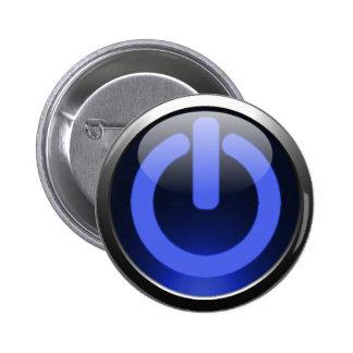 濃紺力ボタン 5.7CM 丸型バッジ